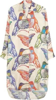 La Prestic Ouiston Carnac Printed Silk Shirt Dress