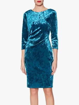 Gina Bacconi Bellatrix Velvet Midi Dress