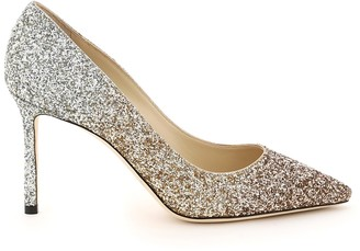 Jimmy Choo Romy Triple-shaded Glitter Pumps 85