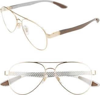 Ray-Ban 55mm Aviator Optical Glasses