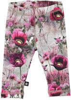 Molo Stefanie Winter Meadow Jersey Leggings, Gray/Pink, Size 6-24 Months