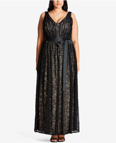 City Chic Trendy Plus Size Lace Gown