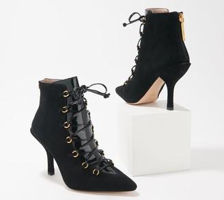 Louise et Cie Leather Lace-Up Ankle Boots - Vanida