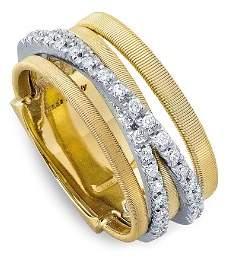 Marco Bicego 18K Yellow Gold Goa Five Row Ring with Diamonds