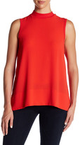 Bobeau Sleeveless Mock Neck Zip Tank