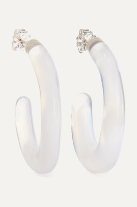 Leigh Miller - + Net Sustain Opaline Glass Hoop Earrings - Light blue