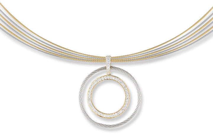 Alor Classique Multi-Row Diamond Pendant Necklace