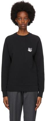 MAISON KITSUNÉ SSENSE Exclusive Black and Grey Fox Head Sweatshirt