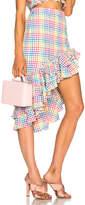 Caroline Constas Pencil Ruffle Skirt