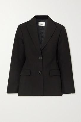 Frankie Shop Cotton Blazer - Black