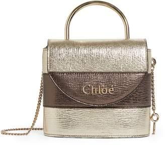 Chloé Small Metallic Aby Lock Bag