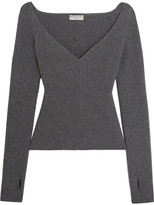 Balenciaga Stretch Wool-blend Sweater - Anthracite
