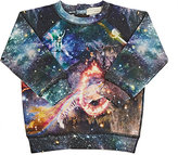 Stella McCartney Cosmic-Circus-Print French Terry Sweatshirt-BLACK