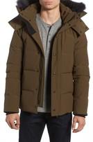 Canada Goose Men's Wyndham Slim Fit Genuine Coyote Fur Trim Down Jacket