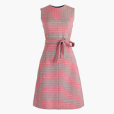 J.Crew Tie-waist dress in Italian tweed
