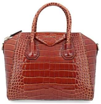 Givenchy Small Antigona Crocodile Effect Bag