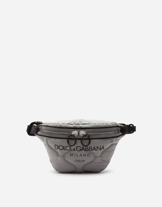 Dolce & Gabbana Nylon Palermo Tecnico Belt Bag With Logo Print