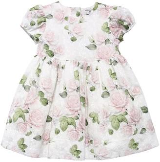 MonnaLisa ROSES PRINTED EYELET LACE DRESS