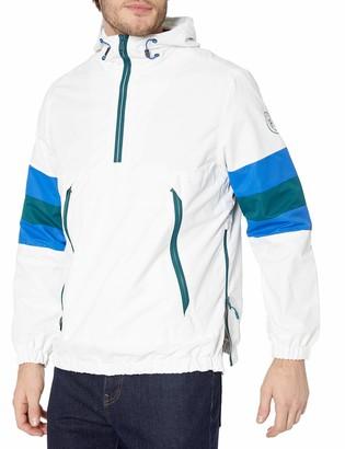 Perry Ellis   Men's Outerwear Perry Ellis - Men's Outerwear Men's Waterproof Popover Hooded Lightweight Rain Jacket