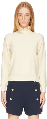 See by Chloe Off-White Victorian Turtleneck
