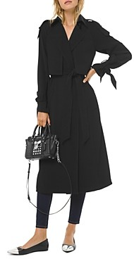 MICHAEL Michael Kors Belted Tie Detail Trench Coat