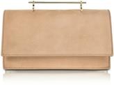 M2Malletier Alexia Sand Suede Shoulder Bag