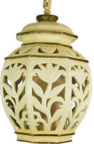 One Kings Lane Vintage Pierced Ceramic Pendant