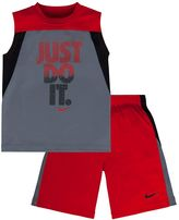 """Nike Boys 4-7 Just Do It"""" Muscle Tee & Shorts Set"""