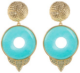 House Of Harlow Drop Amazonite Statement Earrings