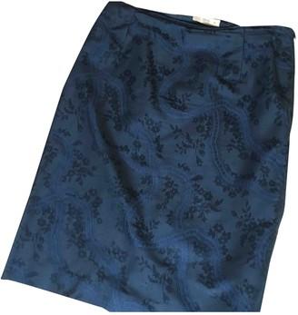 Prada Blue Silk Skirt for Women Vintage