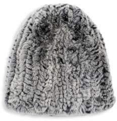 Surell Rex Rabbit Fur Hat