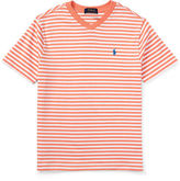 Ralph Lauren Striped V-Neck Jersey Tee, Size 2T-4T