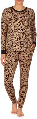 ROOM SERVICE Leopard Print Jogger Pajamas