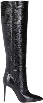 Paris Texas Black Leather Stiletto Boots