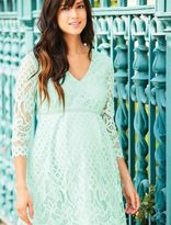 A Pea in the Pod V-neck Lace Maternity Dress