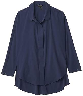 Nic+Zoe Petite Tech Stretch Shirt (Dark Indigo) Women's Clothing