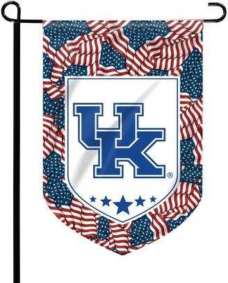 Kentucky Wildcats Patriotic Garden Flag