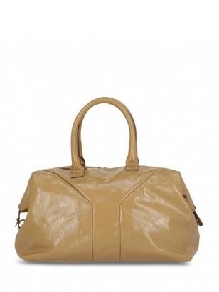 Saint Laurent Easy Beige Patent leather Handbags