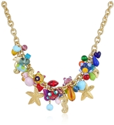 Antica Murrina Veneziana Marilena - Murano Glass Marine Gold Plated Necklace