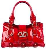 Valentino Patent Leather Catch Bag