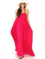 Elan Maxi Halter Dress in Fuschia