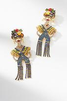 Elizabeth Cole Maria Fringed Drop Earrings