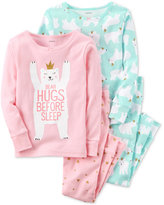 Carter's 4-Pc. Hugs Before Sleep Cotton Pajama Set, Baby Girls (0-24 months)