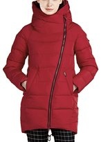 ICEbear Women's Coats Winter Quilted Jackets Long Hooded for Ladies 16G607