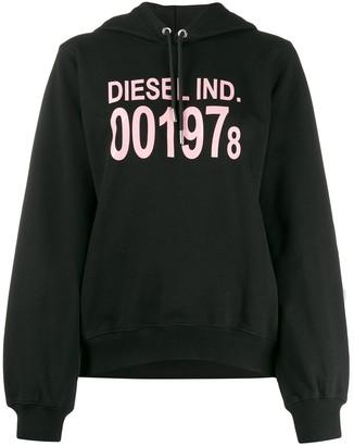 Diesel long sleeve logo hoodie
