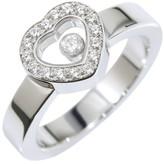 Chopard Happy 18K White Gold & Diamond Heart Band Ring Size 5.5