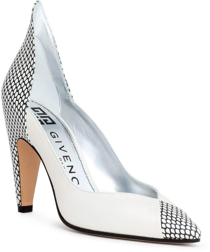 Givenchy White 95 leather pumps