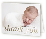 Minted Little Intro Foil-Pressed Birth Announcement Thank You Cards