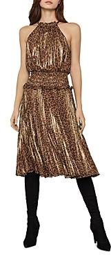 BCBGMAXAZRIA Smocked Leopard Dress