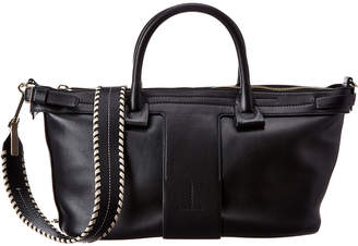 Theory T Bar East West Leather Tote